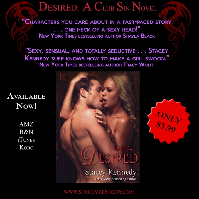 Desired by Stacey Kennedy Launch Day Graphic